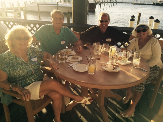 Member social at Pincher's at the Edison Ford Marina