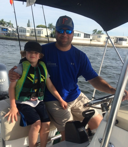 Jason and Blaine - Father and Son Day out on the Water