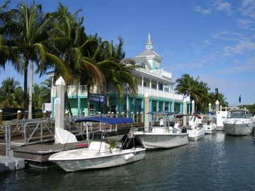 A View of Freedom Boat Club's Fleet at Salty Sam's Marina