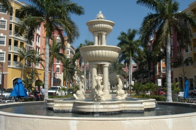 Fountain near Naples Freedom Boat Club