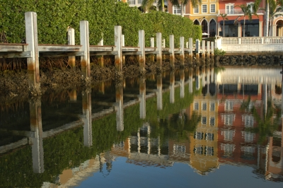 Reflections near Naples Freedom Boat Club