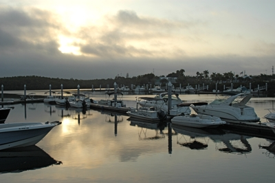 Sunrise on Naples Freedom Boat Club Fleet