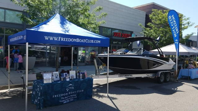 Table and Boat at Taste of Woodbridge