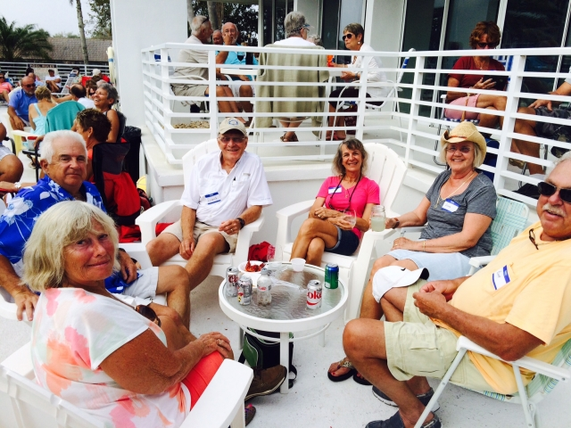 Low Country Boil poolside at Cape Haze Marina!