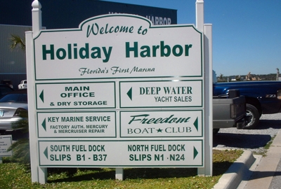 Holiday Harbor Marina Sign
