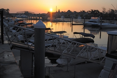 Sunrise at the Freedom Boat Club - North Myrtle Beach