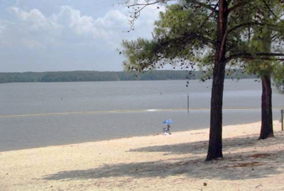 Beach at B. Everett Jordan Lake