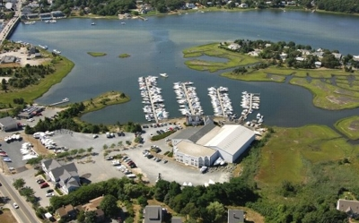 Bass River Marina From Above