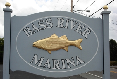 Bass River Marina Sign