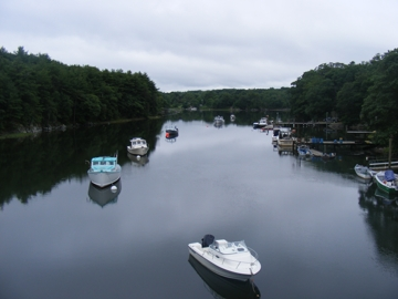 Lobster boats on Sagamore Creek