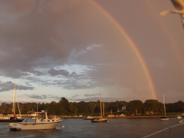 Beautiful Rainbow after a day of boating with Freedom Boat Club of Newport