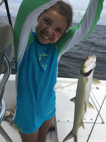 This girl can catch fish!