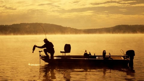 Fishing on Lake Hartwell